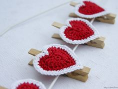 Ihan oikea blogi?: Virkattuja sydämiä, ohje