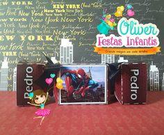 Caixa bala Homem-aranha by Oliver Festas Infantis.