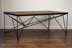 great coffee Looking for a modern and unique addition to your home? This coffee table is a great choice. Walnut table top with black wire legs will fit in any interior. Painted Coffee Tables, Decorating Coffee Tables, Modern Coffee Tables, Modern Table, Hairpin Leg Coffee Table, Coffee Table Rectangle, Walnut Table Top, Walnut Coffee Table, Steel Furniture