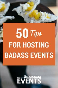 http://reinventingevents.com/50-tips-for-hosting-badass-events/?utm_campaign=coschedule&utm_source=pinterest&utm_medium=Reinventing%20Events #50tips highlight the way Reinventing Events designs events, allowing their client's brand and personality to shine through the entire production, and provide attendees with a one-of-a-kind event experience. Repin and read more about the #50Tips! @reinventevents #EventProfs #Events #EventTips #BadassEvents