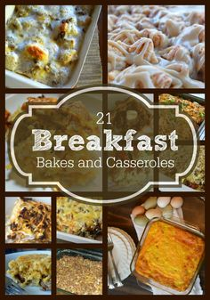 21 Breakfast Bakes and Casseroles, a great collection of recipes that you simply must try. One-dish meals are handy to have - and clean-up is a breeze!
