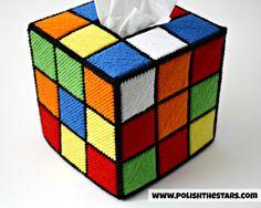 Rubix Cube Tissue Box Cover