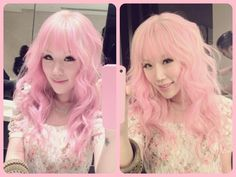 Xiaxue's baby pink hair! <3