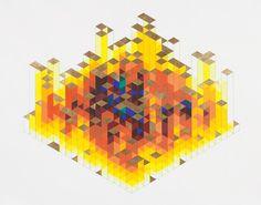 hand, dice, colors, art, castles, flats, pencil drawings, triangl, jame bill