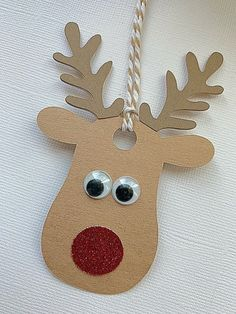 Rudolf the red nosed reindeer favor tags/gift tags – Presents for kids Christmas Gift Tags, Christmas Activities, Christmas Crafts For Kids, Xmas Crafts, Christmas Decorations, Christmas Ornaments, Christmas Presents, Rudolph Christmas, Holiday Gifts