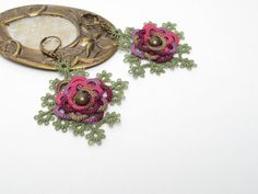 Tatted Lace Earrings by SheenCompany on Etsy, $29.00