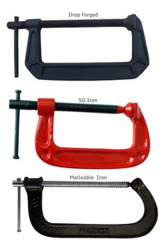 G-Clamps ( Drop Forged / S.G. Iron & Malleable Iron frame painted, Chrome Plated / Black Finish Spindle )