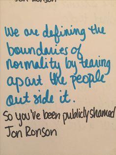 So You've Been Publicly Shamed by Jon Ronson v