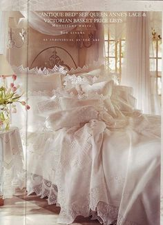 White linens and laces