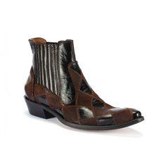Hnědé pánské kožené kovbojky COMODO E SANO na nízkém podpatku - manozo.cz Ankle, Boots, Fashion, Luxury, Crotch Boots, Moda, Wall Plug, Fashion Styles, Shoe Boot