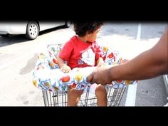 Video Tutorial- How to Make a Shopping Cart Cover for babies and toddlers
