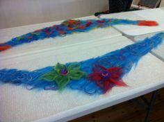 Felt Scarves made during our Felting Workshop Summer 2014