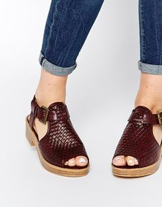 ASOS FOOLED YOU Woven Peep Toe Sandals