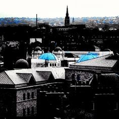 Bradford from up high. The Odeon's lovely domes peeping out.
