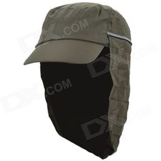OUTFLY A13008 Outdoor Polyester Sunproof Hat / Cap w/ Removable Skirt for Men - Army Green
