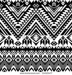 black and white tribal Navajo seamless pattern. aztec abstract geometric print. ethnic hipster backdrop. It can be used for wallpaper, web page background, fabric, textile, paper, postcards.