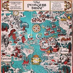 "I love, love, love this map from my crappy old paperback copy of William Goldman's ""The Princess Bride""... #books #reading #princessbride #vintagekidsbooks  #asyouwish"