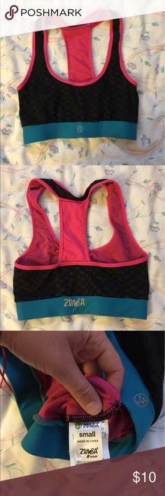 Zumba Sports Bra Older sizing, it says small but fits more like an extra small Zumba Fitness Intimates & Sleepwear Bras