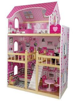 Butternut 3 Storey Wooden Dolls House & Accessories