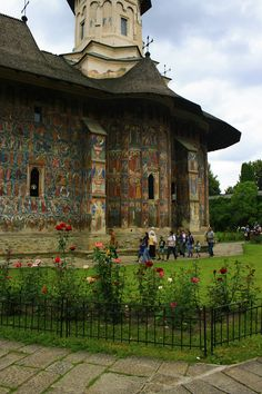 Family Road Trip – Prayer and Meditation - Moldovita Monastery Family Road Trips, Romania, Meditation, Prayers, Mansions, House Styles, Fancy Houses, Mansion, Manor Houses