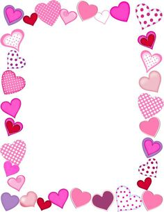 Free valentine clip art images to help you with your Valentine's Day projects. The free valentine clip art here includes hearts, flowers, and cupids. Valentines Day Border, Valentines Frames, Images For Valentines Day, Valentines Hearts, Free Valentine Clip Art, Boarders And Frames, Page Borders Design, Border Design, Free Frames