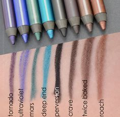 Urban Decay Eye Liner Set Ocho Loco 2 Swatch Pictures