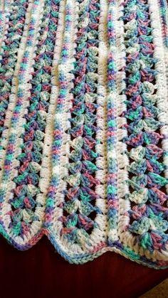 Crochet Patterns Afghans Crochet, baby blanket, mile a minute blanket, mile a minute afghan Crochet Afgans, Crochet Quilt, Afghan Crochet Patterns, Free Crochet, Knit Crochet, Crochet Mile A Minute, Crochet Baby Blanket Beginner, Manta Crochet, Baby Blankets