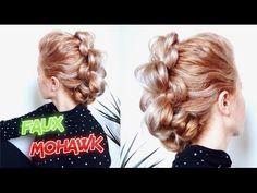 MEDIUM SHORT HAIRSTYLE UNIQUE ELEGANT FAUX MOHAWK UPDO | Awesome Hairstyles