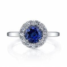 Omi Gems: Sapphire and Diamond Ring