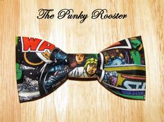 Your place to buy and sell all things handmade Clip On Bow Ties, Boys Bow Ties, Tie Clip, Dapper Day Disneyland, Star Wars Fabric, Superhero Fashion, Fabric Ribbon, Xmas Gifts, Fabric Patterns