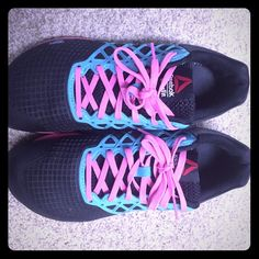 Turquoise (kinda looks green) pink and black! Love them just too small☹ Reebok  Shoes Athletic Shoes 76507ebbd