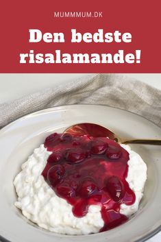 Opskrift fra www. Danish Cuisine, Danish Food, Pudding Desserts, Cookie Desserts, Beautiful Desserts, Christmas Sweets, Recipes From Heaven, Food Cravings, Great Recipes
