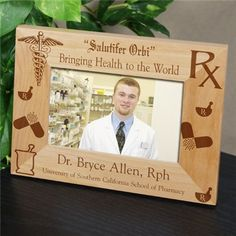 Personalized Pharmacist Picture Frame | Medical Professional Frame | Pharmacist Gift Ideas #personalizedgift