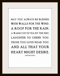 An Irish Blessing | Content in a Cottage
