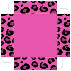 Pink leopard - Full Kit with frames for invitations, labels for goodies, souvenirs and pictures! Animal Print Party, Oh My Fiesta, Free Boxes, Pink Leopard, Diy Box, Miniatures, Invitations, Templates, Gifts