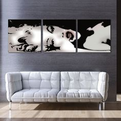3 Panel Oil Painting Home Decorative Art Picture Wall Art Pictures, Pictures To Paint, Print Pictures, 3 Piece Canvas Art, Abstract Canvas Wall Art, Wall Mounted Wood Shelves, Cheap Canvas Prints, Black And White Abstract, Black White