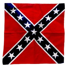 cotton bandana w/ white border (not pictured) to represent the Confederate Battle Flag. Size x Southern Heritage, Southern Pride, Bandana Quilt, Redneck Christmas, Firefighter Decals, Wood Flag, Confederate Flag, Cotton Bandanas, Country Girls