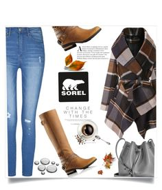 """Kick Up the Leaves (Stylishly) With SOREL: CONTEST ENTRY"" by lilyvega-p on Polyvore featuring Chicwish, SOREL, Lancaster and sorelstyle"