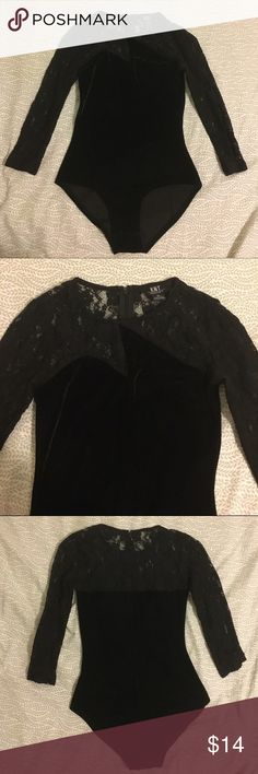 """""""Lady Gaga"""" Body Suit KNT brand from Urban Outfitters. This bodysuit gives off a Lady GaGa vibe. Lace material on arms and across chest. Stretchy velour material everywhere else. Urban Outfitters Other"""