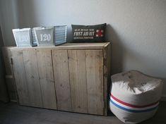 Afbeeldingsresultaat voor dressoir steigerhout