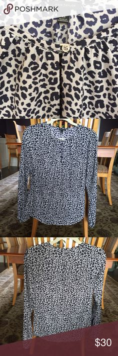 🍁 Ann Taylor Leopard Print Blouse with Keyhole Lovely blouse NWOT. Great from work to happy hour. Ann Taylor Tops Blouses