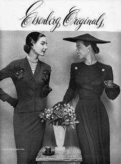 Eisenberg Original clothing ad 1951 they usually used their own jewelry too
