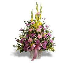 flower arrangements with gladiolus   Cheap Flowers - Sympathy & Funeral Flowers   Serenity Arrangement
