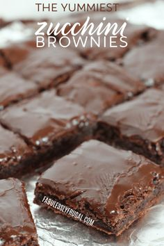 Best Chocolate Zucchini Brownies Recipe Fabulessly Frugal is part of Zucchini brownies - Got zucchini Make these delicious chocolate zucchini brownies! They're fudgy, healthy, and you won't even taste or see the zucchini in them! Healthy Desserts, Just Desserts, Delicious Desserts, Dessert Recipes, Yummy Food, Delicious Chocolate, Dessert Bars, Best Chocolate Bars, Chocolate Sweets