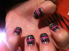 Aztec nails by WAH