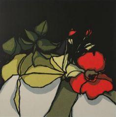 Painting Fon Klement - La fleur rouge
