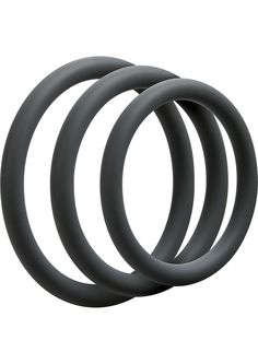 Buy Optimale 3 Silicone C-ring Set Thin Slate online cheap. SALE! $11.49