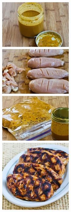 @Savory Marinade Recipe for Grilled Chicken : perfect to freeze in the marinade and remove when ready to grill.  Half recipe for 2 chicken  -Apple cider v -1/2 blk top poultry/ 1/2 other blk to poultry  -smoked paprika