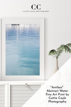 Reflections and water ripples in stone blue Mediterranean water in Port Vauban, Antibes, France. Prints come unframed and framed. Shipping to the US, Canada, Australia, New Zealand and EU. Coastal Wall Decor, Coastal Art, Beach House Decor, Coastal Living, Large Prints, Fine Art Prints, Hamptons Style Decor, Antibes France, Water Ripples