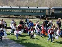 Hocking Valley Scenic Railroad's annual Easter Egg Hunt